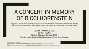 A Concert in Memory of Ricci Horenstein